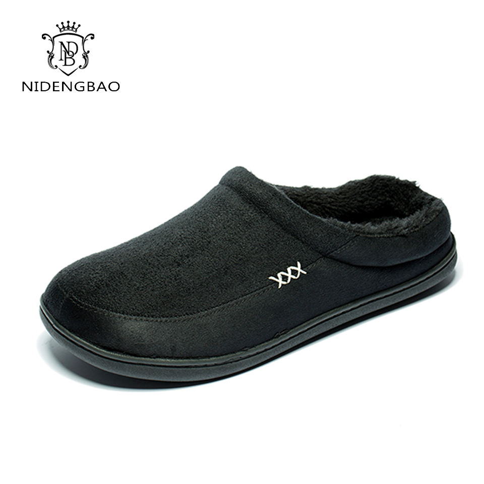 Brand Men Winter Cotton Slippers Bedroom Warm Home Slippers Indoor Plush Size 48 House Shoes Soft Floor Good Quality loafer  Brand Men Winter Cotton Slippers Bedroom Warm Home Slippers Indoor Plush Size 48 House Shoes Soft Floor Good Quality loafer