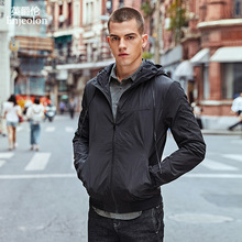 Enjeolon top brand 2017 fashion Bomber jackets men,hooded Grey black  Mens coats,hooded Jacket Men cool clothes WT0219