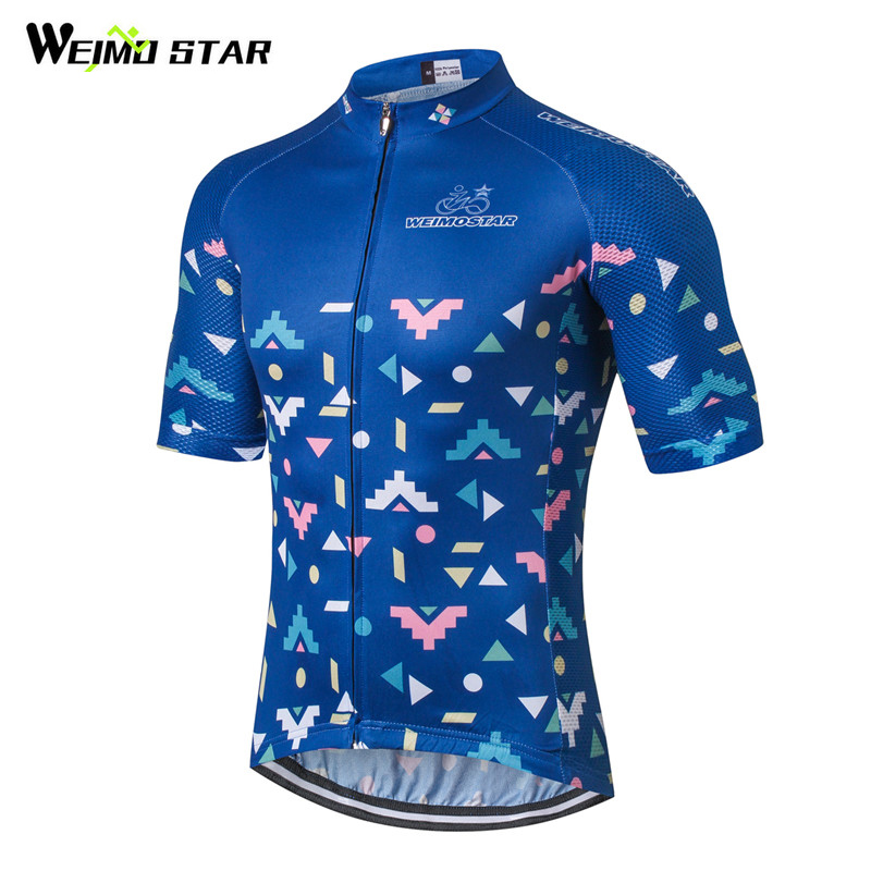 Weimostar 2018 pro Team Cyklistika Oblečení Muži Krátké Cyklistické dresy Top Prodyšné mtb Bike Jersey Cyklistické oblečení Ropa Ciclismo