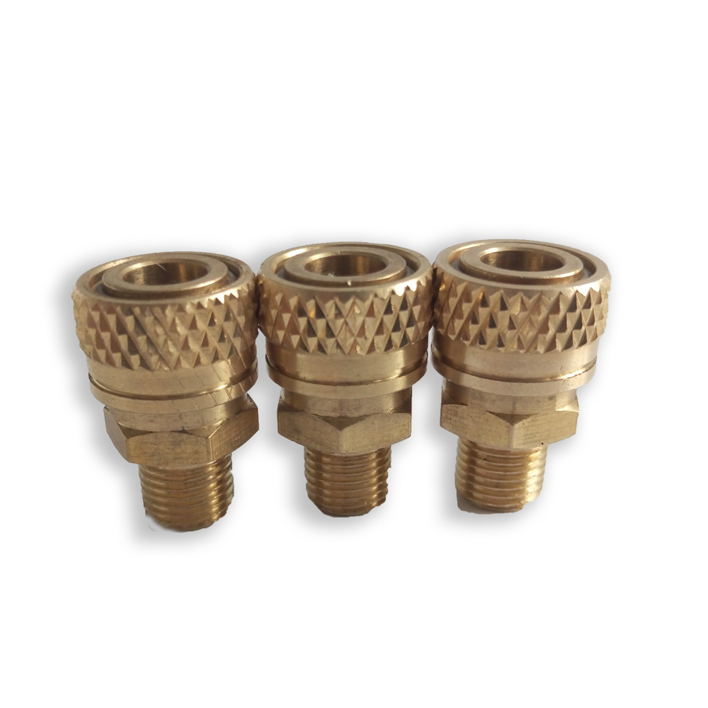 AC8022 High Quality Quick Disconnect Airsoft 8MM M10*1 Male Thread Quick Disconnect Copper Diving 300bar Free Shipping Acecare