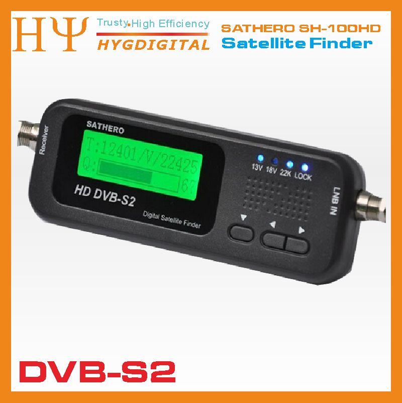 2pcs/lot Original Sathero SH-100HD Pocket Digital Satellite Finder Satellite Meter HD Signal Sat Finder with DVB-S2 USB 2.0
