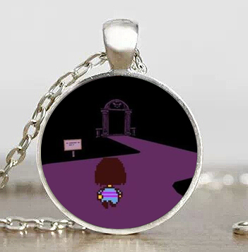 Undertale Go Home Game Gaming Handmade Fashion man Necklace mens brass silver Pendant steampunk Jewelry Gift women new chain toy