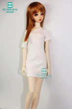 BJD accessories doll clothes fits 60cm 1/3 BJD doll fashion underwear and medium-length temperament T-shirt(China)