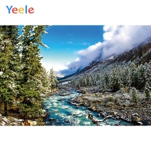 Yeele Winter Landscape Photocall Pine Forest River Photography Backdrops Personalized Photographic Backgrounds For Photo Studio
