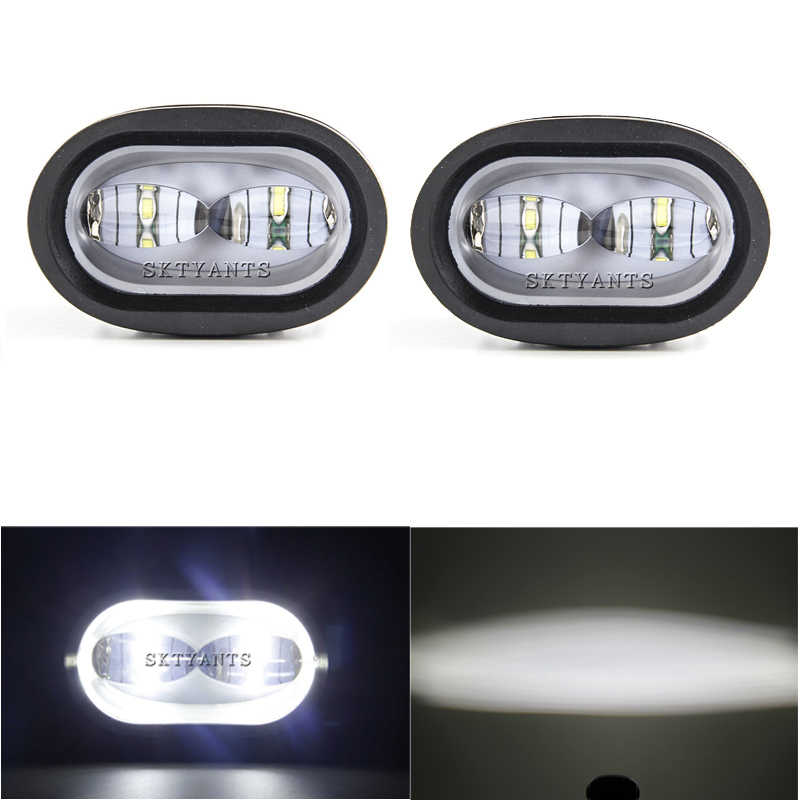 20W LED Work Light 6D White/Yellow Universal Motorcycle Off Road Auxiliary Spot Lamp Driving Fog Light for Car Truck