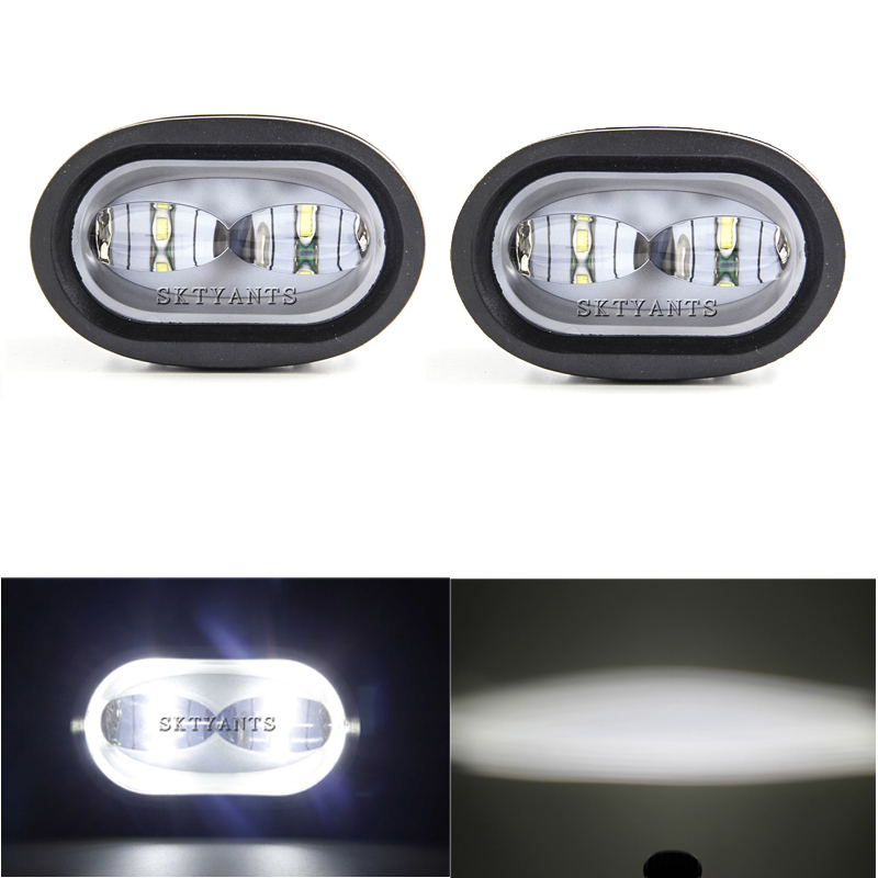 20W LED Work Light 6D White/Yellow Universal Motorcycle Off Road Auxiliary Spot Lamp Driving Fog Light for Car Truck 4 21w round off road car led work light spot beam car driving fog lamp truck with free shipping