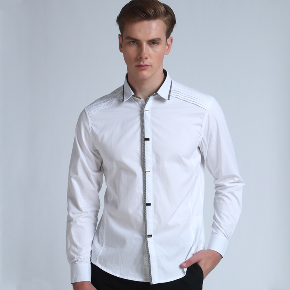 Top Quality Mwxsd Brand Mens Casual Long Sleeve