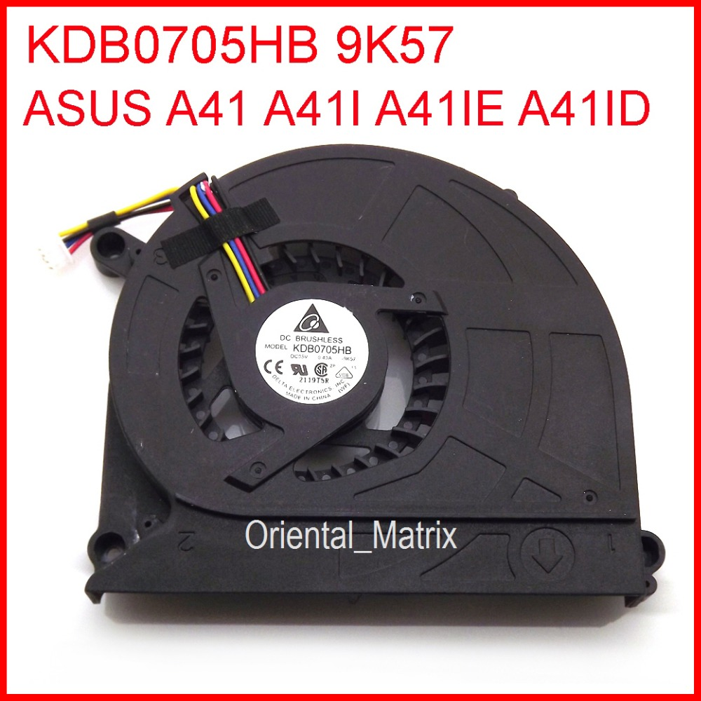 Original New KDB0705HB 9K57 DC5V 0.40A Cooler For Asus A41IE A41ID A41 A41I Laptop CPU Cooler Cooling Fan for asus u46e heatsink cooling fan cooler