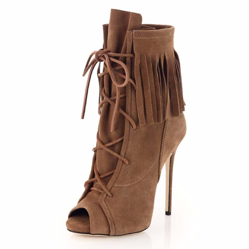 Popular Fringe Heels Boots-Buy Cheap Fringe Heels Boots lots from ...