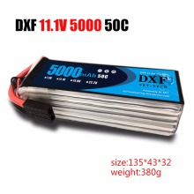 hot deal buy dxf rc battery 11.1v 5000mah 50c max 100c with xt60 plug 3s lipo battery for rc helicopters airplane car drone rc turck