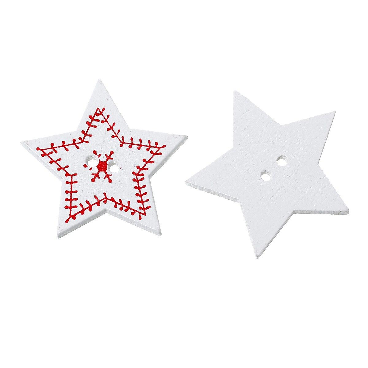 ღ Ƹ̵̡Ӝ̵̨̄Ʒ ღDoreenbeads madera Costura scrapbooking botón estrella ...