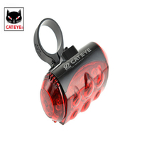CATEYE Bike Bicycle 6 LED Rear Tail Laser Light Bike Back Red Light Safety Warning Flashing
