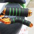 2 пара/лот руль губка Грипсы высокая плотность губка MTB складной велосипед руль анти-скольжения Мотоцикл сцепление крышка - фото