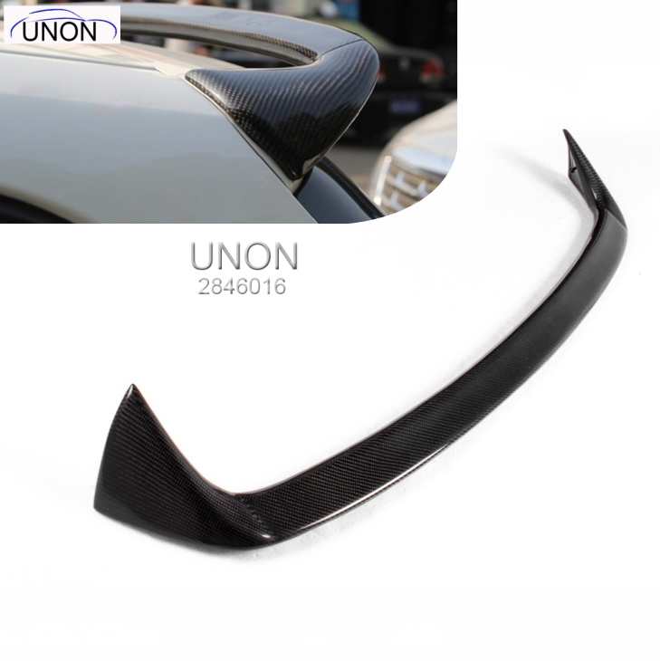 For <font><b>BMW</b></font> F20 Spoiler 2012 - 2018 1 Series <font><b>116i</b></font> 120i 118i M135i <font><b>Carbon</b></font> Fiber for F20 Rear Roof Spoiler A Style FRP Grey image