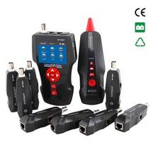 Free shipping, Noyafa NF-8601W Newest Design Multi-functional Nework cable tester For RJ45, RJ11, BNC, PING/POE 8 Remotes