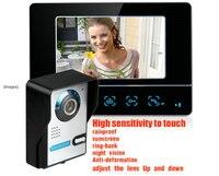 Hot sale Rainproof 7 Inch HD LCD TFT Screen Night vision Colorul Video Intercom Doorbell Doorphone monitor