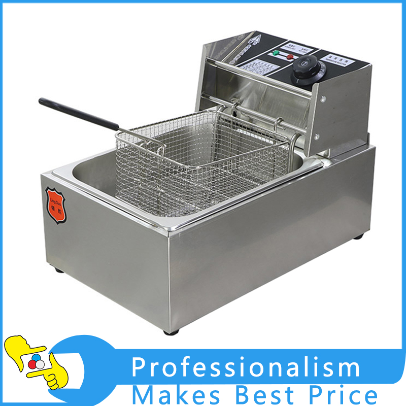 Stainless Steel Commercial Single Cylinder Deep Fryer Multi-functional Canteen Fryer Fries Fried Chicken Furnace Frying Machine shipule fast food restaurant 30l commercial electric chicken deep fryer commercial potato chips deep fryer frying machine