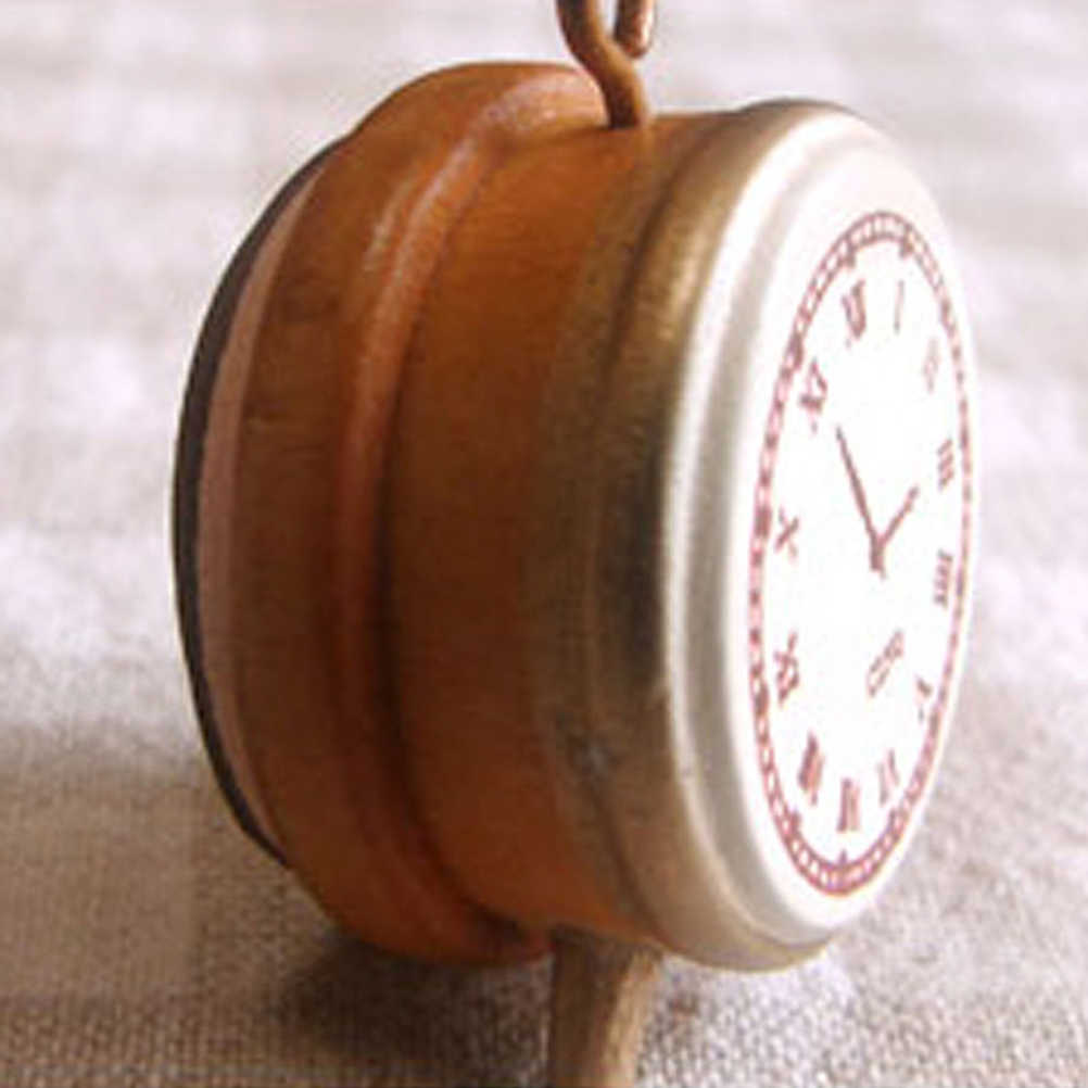 1 Máy tính Mini DIY dấu gỗ tem Vintage Retro phong cách đồng hồ báo thức tem