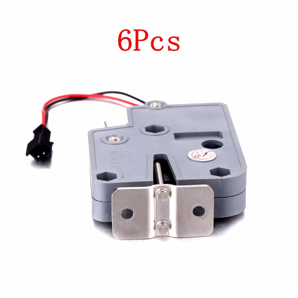 New 6PCS 75 * 56 * 15mm DC 12V 2A Shockproof Electromagnetic Lock energy-saving Cabinet Lock anti-theft Door Locks High Quality hzsecurity electromagnetic system em library anti theft system one aisle
