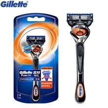 Gillette maquinilla de afeitar Gillette Fusion, maquinilla de afeitar Manual y recta Proglide Flexball, 1 soporte, 1 hoja, afeitadora de barba lavable para hombre