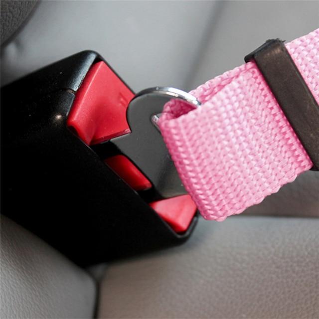 5 Colors Pet Seat Belts Dog Car Safety Harness Restraint Lead Leash Travel Clip