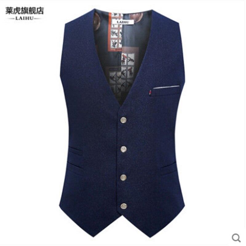 England Style Fashion Men Suit Vest Brand V-Neck Slim Fit Men Suit Blazer Vests Autumn Spring Winter Male Outwear Coat A2841