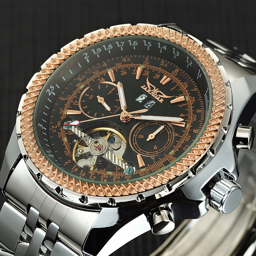 2018 uhren Männer Edelstahl Mechanische Uhren Selbst Wind Armbanduhr Automatische Tourbillon Uhr Relogio Masculino-in Mechanische Uhren aus Uhren bei  Gruppe 3