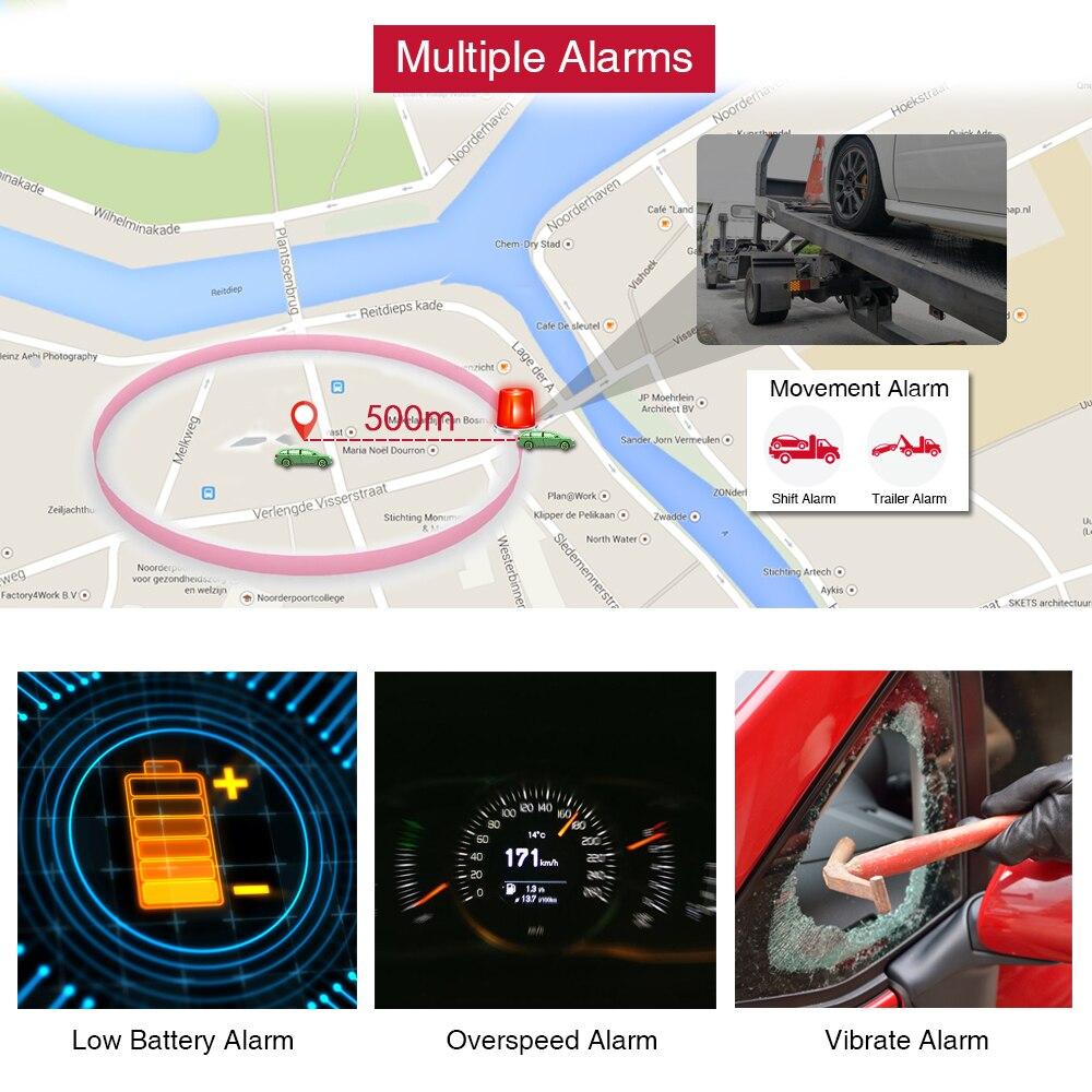 GPS Tracker voiture TKSTAR TK905 5000 mAh 90 jours en veille 2G traqueur de véhicule GPS localisateur étanche aimant moniteur vocal application Web gratuite - 3
