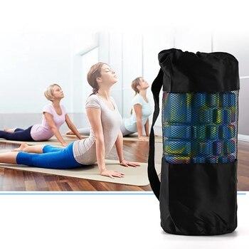 Yoga Mat Storage Mesh Bag Adjustable Strap Drawstring Bags Carrier Gym Tool For Foam Roller Tyx201 Aliexpress Com Imall Com