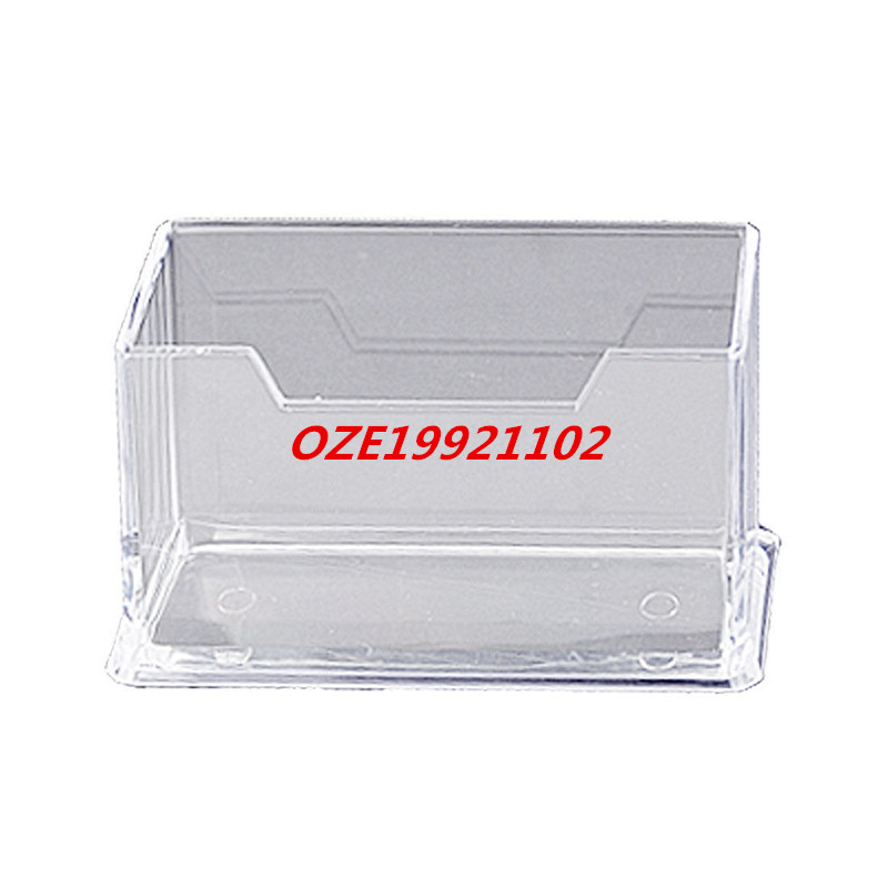 1PCS Clear Hard Plastic Office Desk Name Card Holder Case