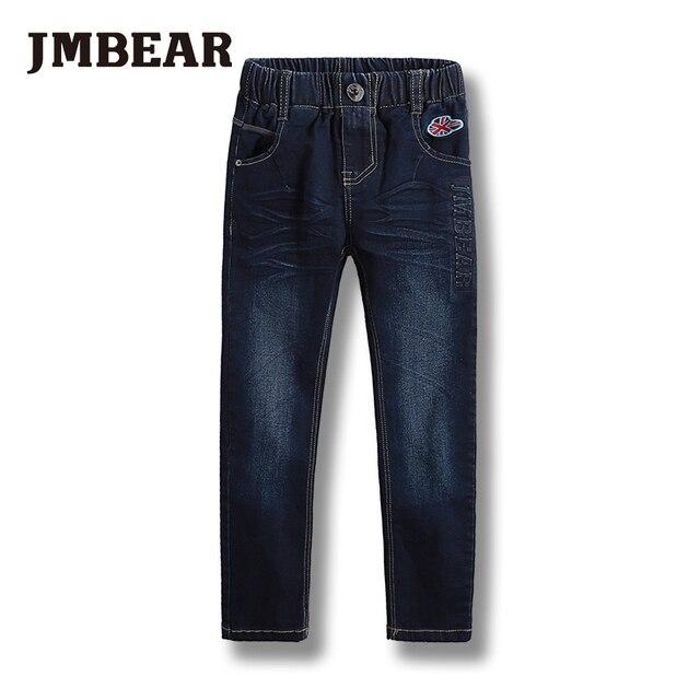 JMBEAR 5-14years мальчиков длинные длина джинсы детская одежда девочек джинсовые брюки детские брюки 2016 новых