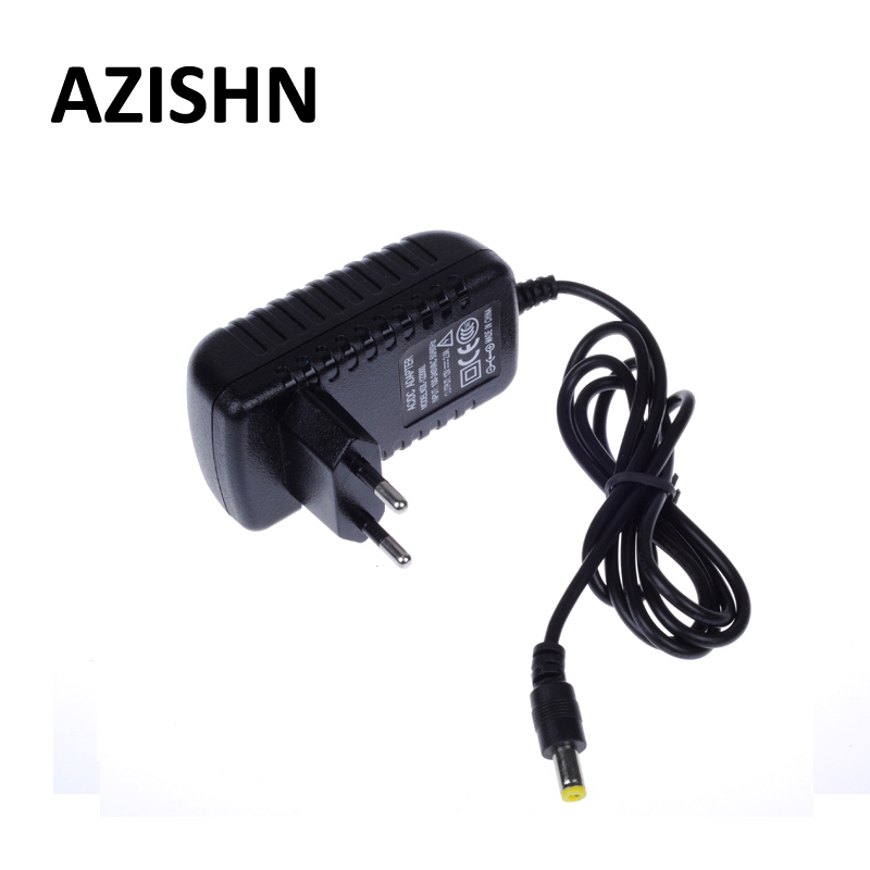 AZISHN EU Type AC 100-240V to DC 12V 2A Power Supply  AC DC Adapters Power Plug Adaptor 5 5x2 1mm for CCTV Camera LED Strip