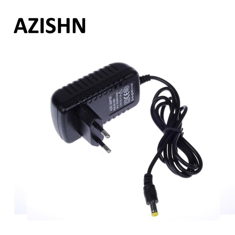 AZISHN EU Type AC 100-240V to DC 12V 2A Power Supply  AC DC Adapters Power Plug Adaptor 5 5x2 1mm for CCTV Camera LED Strip