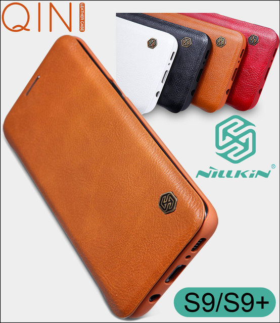 Nillkin Qin Flip Leather Case Cover For Samsung Galaxy S10 Plus S9 Plus Lite