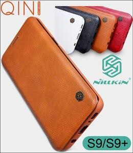 Image 1 - حافظة جلدية Nillkin Qin لهواتف سامسونج جالاكسي S10 بلس s9 Plus لايت