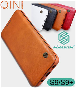 Image 1 - Кожаный чехол книжка Nillkin Qin для Samsung Galaxy S10 Plus S9 Plus Lite