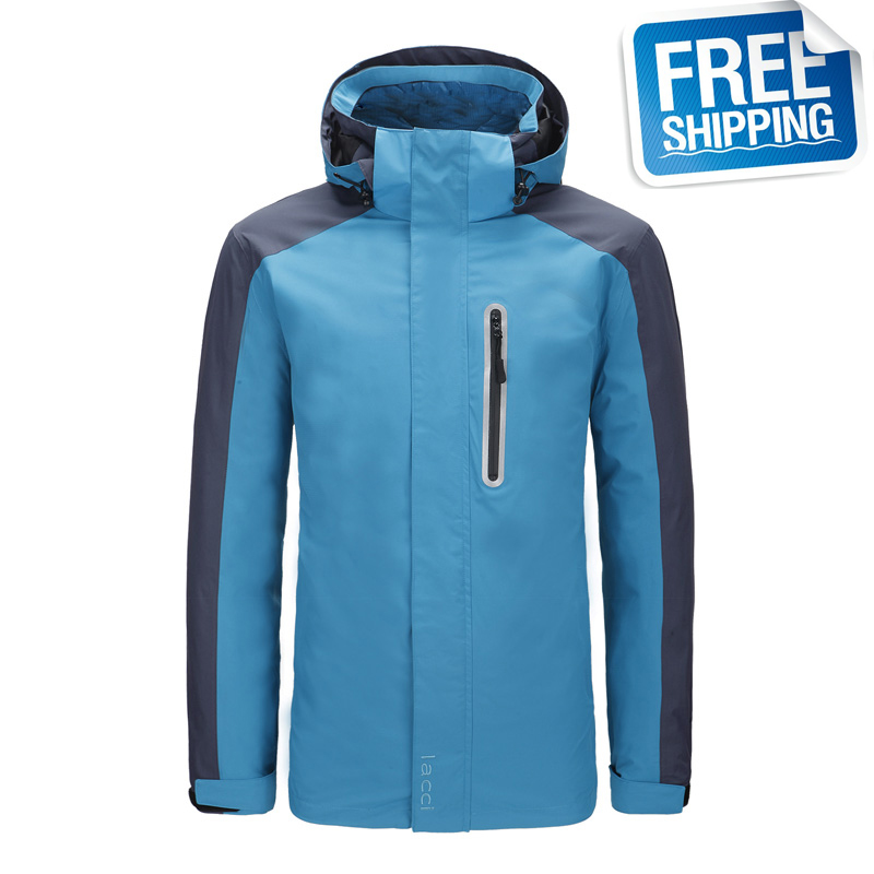 LACCI Men 007-2M Ultra-light Soft And Warm 3-point Interchange Goose Down Jacket Fitness Outdoor Sport Clothing