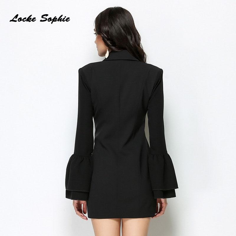 Dames La Sexy Épissage De Noir Coton Costume Robes Haute Simple Plus Partie 2019 Boutonnage Robe blanc Mélange Maigre Taille Femmes Printemps wk8XONn0PZ