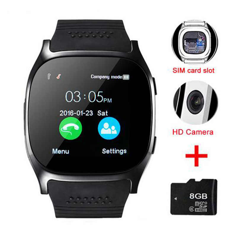 Pour XiaoMi Redmi Sony Motorola Cubot L17 Bluetooth montre intelligente Support de téléphone 2G SIM TF carte cadran appel Fitness Tracker Smartwatch