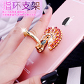 Fashion Lady Girl Love  Metal Ring Holder Mobile Phone Tablet stick-ons Finger Grip For Iphone7 plus Xiaomi Car Stand