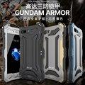 Prueba de I-JUST Gundam Tres Delgada de metal de aluminio caso de la Cubierta A Prueba de Golpes para iphone 7/7 plus armadura exterior teléfono caso de la contraportada