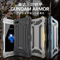 R-JUST Gundam Três Prova Magro metal de alumínio À Prova de Choque caso Capa para o iphone 7/7 plus ao ar livre armadura caso tampa do telefone de volta