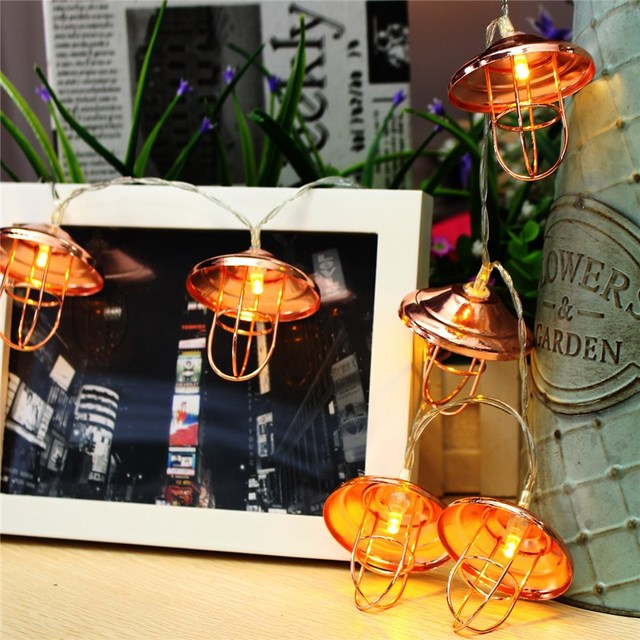 Lamp shade 10 led string light christmas battery operated vintage lamp shade 10 led string light christmas battery operated vintage lantern outdoor led garden fairy string workwithnaturefo