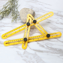 Multifunction Folding Ruler Plastic Activities Four Multi-angle Aluminum Measuring Tools
