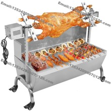 Free Shipping 89cm Heavy Duty Pig Goat Charcoal Barbeque BBQ Grill Rotisserie Spit Raclette Hog Roasting Machine with 60kg Motor