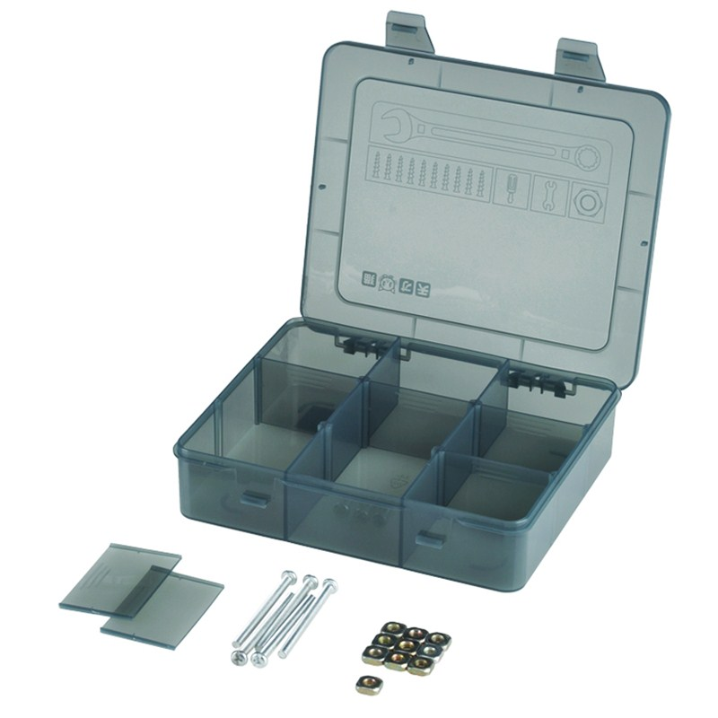 1pcs! Portable Jewelry Tool Box Multi-Package Removable Parts Screw Beads Organizer Plastic Case Toy Storage Box