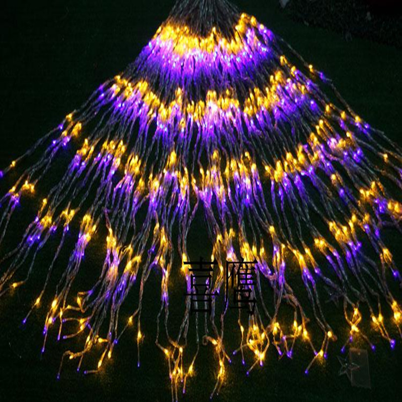 6x3m 600 leds Waterfall Curtain string lights Fairy New Year Christmas Decoration LED lamps Wedding Party garland home garden
