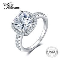 Jewelrypalace Princess 4 2ct Zirconia Engagement Rings Real 925 Sterling Silver Ring With S925 Stamp Classic