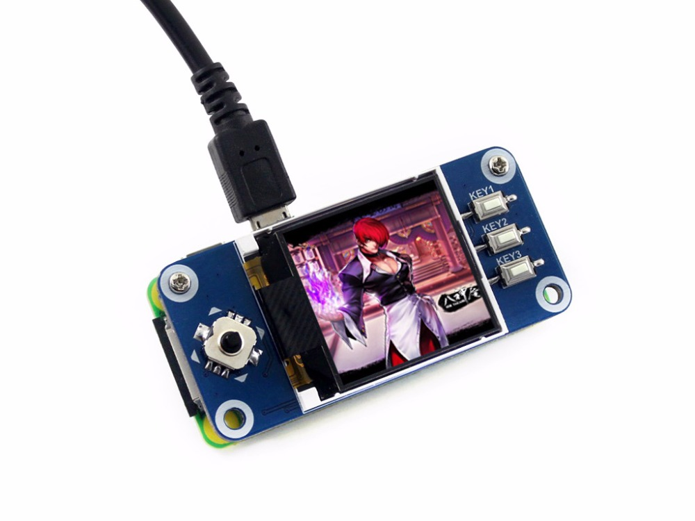 цена Waveshare 1.44inch LCD display HAT for Raspberry Pi 2B/3B/3B+/Zero/Zero W,128x128 pixels,SPI interface,ST7735S driver