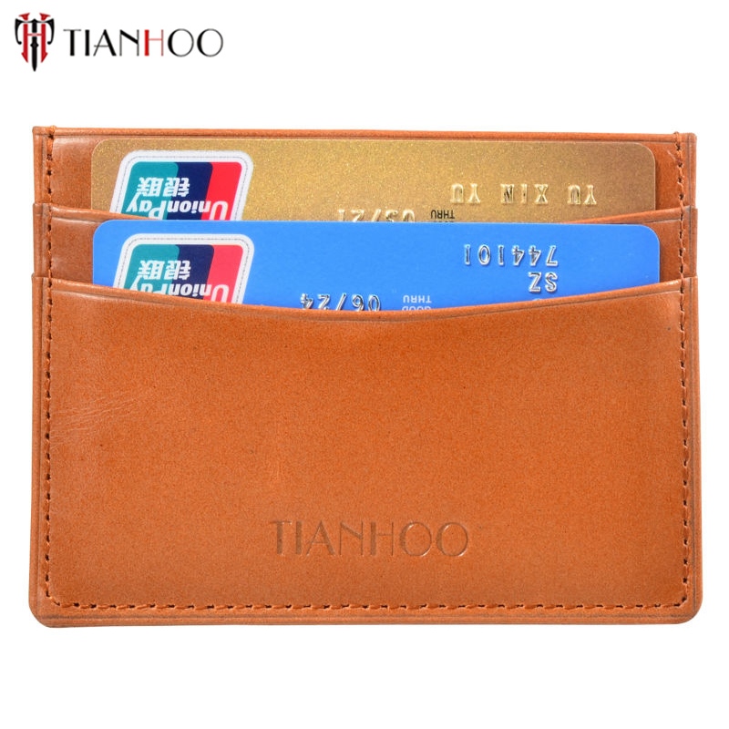 TIANHOO Ultra thin Credit Card Holder Mini Wallet Simple Men Slim ...